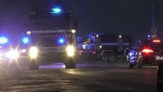 POŽÁR MOCHOV 23.2.2018 hašiči blokáda cesty