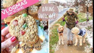 VLOGMAS DAY 10 | SNOWY SUNDAY & MY FAVORITE CHRISTMAS COOKIE RECIPE! (2018)