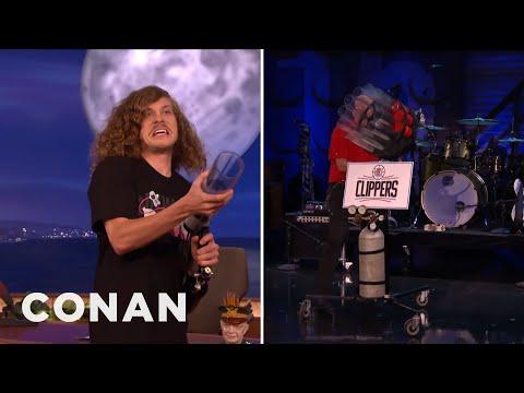 Blake Anderson & Steve Ballmer's T-Shirt Gun Battle  - CONAN on TBS