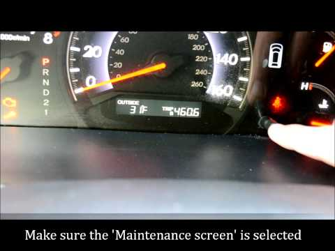 How To Reset the Maintenance Light on a 2005 - 2010 Honda Odyssey (or Accord)