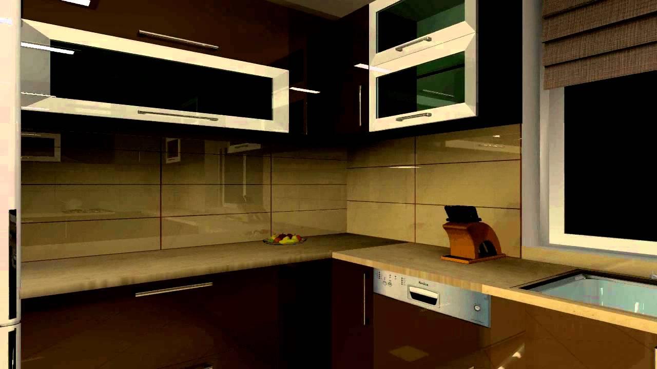 Projekt kuchni i salonu  YouTube