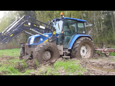 Kultwatorowanie w podmokłych warunkach!/ New Holland T5060/Unia Agromet