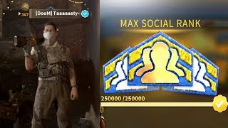 "WORLD'S FIRST ""Verified Gamertag"" in COD WW2 unlocking MAX SOCIAL SCORE rank in Call of Duty: WWII"