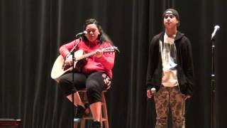"Galileo High school Talent show rehearsal ""Stay with me"" by Jason & Vonnie"