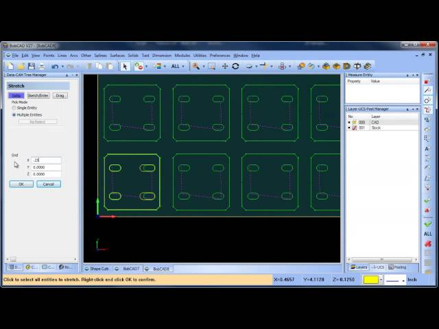 Using Stretch Feature to Edit Geometry for Plasma Cutting BobCAD CAM V27