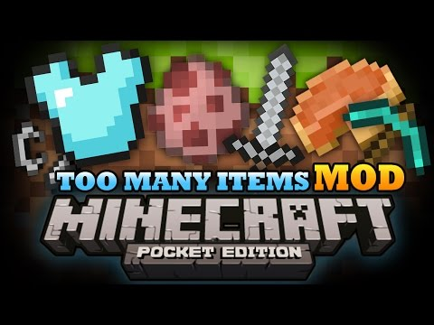 Minecraft Pocket Edition | TOO MANY ITEMS MOD! - MCPE 0.9.4 Mod Showcase!