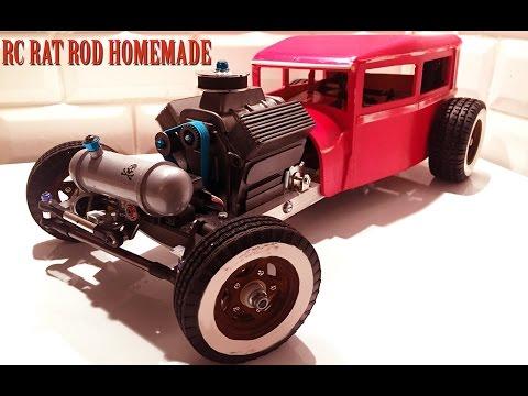 RC CAR - RAT ROD RWD HOMEMADE 1/10 [PART 3/5] V8 ENGINE