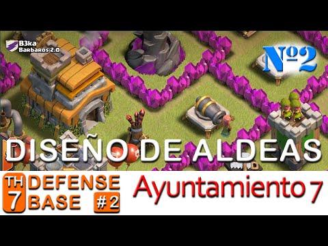 Diseño Aldeas: Ayuntamiento Nivel 7 #2 Clash of Clans