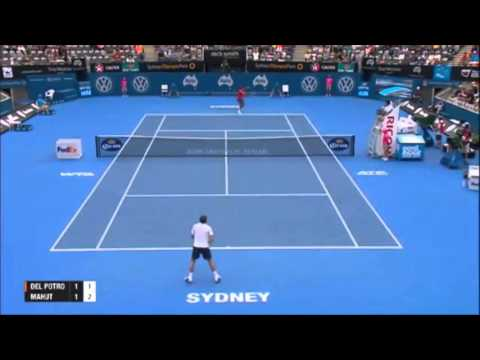 Juan Martin DEL POTRO vs Nicolas MAHUT | Apia International Sydney 2014 | HD