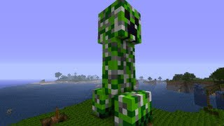 Minecraft: how to make a creeper statue