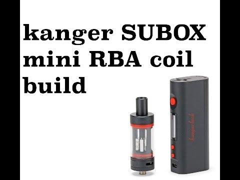 Kanger SUBOX Mini Starter Kit RBA Sub Ohm Coil Build #ADV