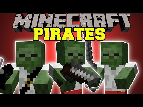 Minecraft: PIRATES (NEW MOBS, PIRATE SHIPS and GUNS!) Pirates Mod Showcase