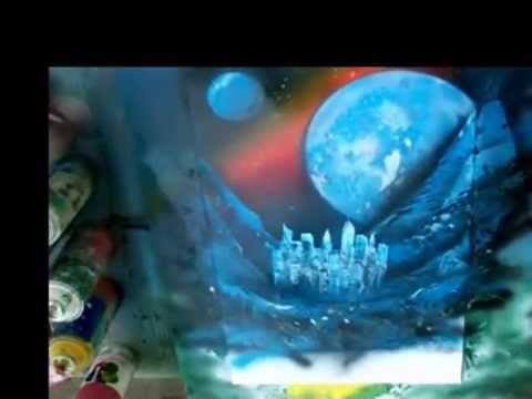 Blue Planet ... Spray Paint Art