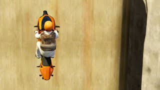 GTA 5 Funny Moments - Most Anoying Bike Race (GTA V Online Stunts)