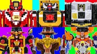 PowerRangers AnimalForce DX Three Kings VS NinJa Steel DX Three MegaZords CombineToy Transformation