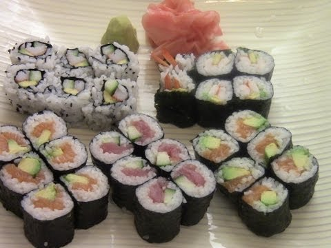 How To Make Simple And Delicious Sushi(2/2)