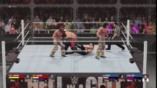 WWE 2K16 Double Superkick!!