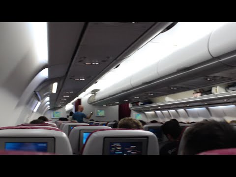 QATAR AIRWAYS A340-600 ECONOMY CLASS    I CDG - DOH I
