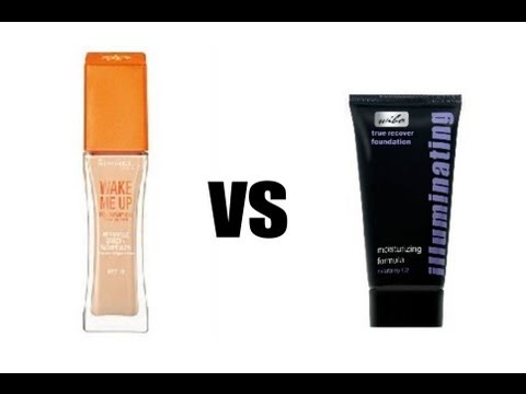 Test na żywo - podkład Rimmel Wake Me Up vs Wibo Illuminating