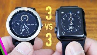 VivoActive 3 vs Apple Watch 3 - Best GPS Activity Tracker 2017 (mid-range)