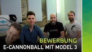 E-Cannonball Bewerbung: nextmove & cleanelectric mit Tesla Model 3