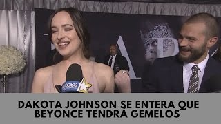 Dakota Johnson se entera que Beyonce tendrá gemelos [Subtitulado]
