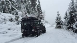 Land Rover Defender TD4 Snow Alps P2 jan16