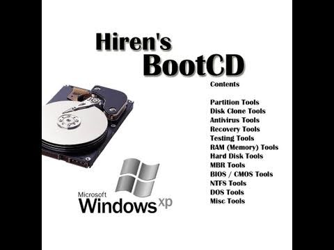 Hiren's BootCD File recovery & diagnostic program