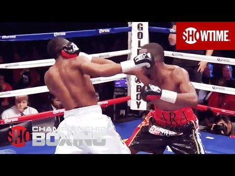 Austin Trout Knocked Down By Erislandy Lara  SHOWTIME Boxing