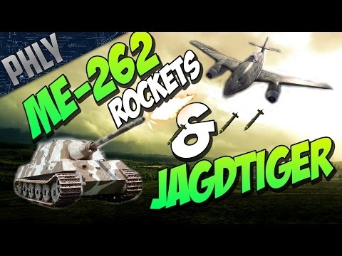 War Thunder TANKS! - ME-262 ROCKET TANK KILLER!