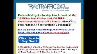 [[[HURRYYY]]] Buy the 1 Million Visitor Package for $59 95 and Get 25 Million Free USA Visitors