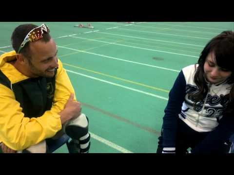 young amputee athlete meets Oscar Pistorius
