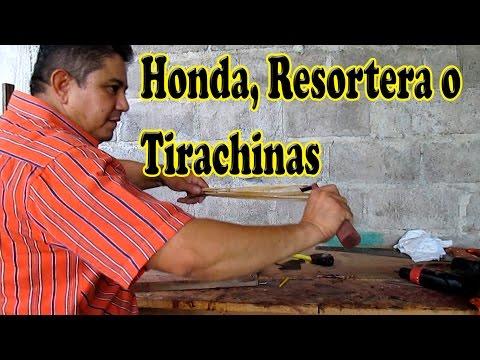 Como Hacer una Honda. Resortera o Tirachinas