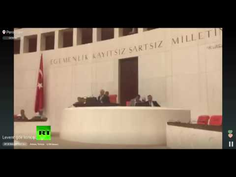 Turkey coup: Footage from inside Turkish parliament when bomb goes off