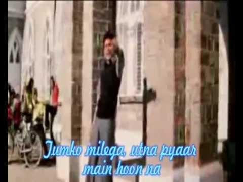 Kiska Hai Yeh Tumko (Main Hoon Na) - Karaoke With Lirick