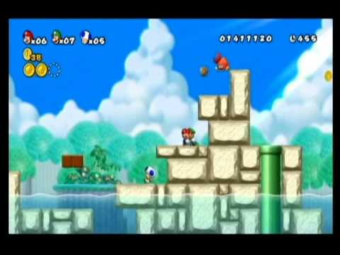 NEW SUPER MARIO BROS WII-ALM1GHTY-WIFEY-K1NG BREEZY-WORLD 4-PT2 Video