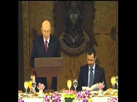Giorgio Napolitano in Siria nel 2010