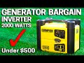 Generator Bargain Review - Backup Power Camping RV - 2000 Watt - Champion