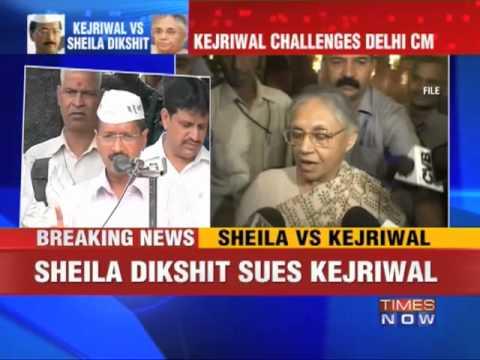 Sheila Dikshit sues Arvind Kejriwal