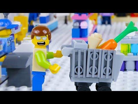 LEGO City Shopping Fail STOP MOTION LEGO City with Ellie Sparkles   LEGO City   By Billy Bricks