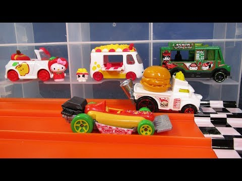 JNR Quick Bite Ice Cream Truck, Shopkins Cutie Cars & Hello Kitty! DHR 20180901 Jammers 'N Racing!