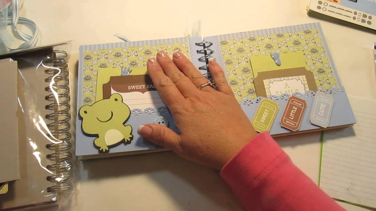 scrapbook mini album - baby boy  prince charming