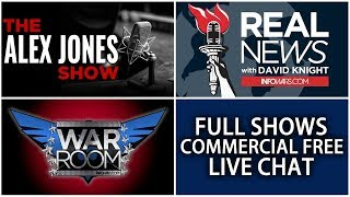 📢 Alex Jones Infowars Stream With Today's Commercial Free Shows • Friday 10/20/17