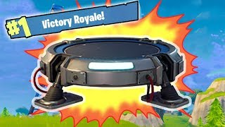 NEW FORTNITE UPDATE - GLIDER JUMP PAD (JUMPING TO THE SKY!) (Fornite Battle Royale Gameplay)
