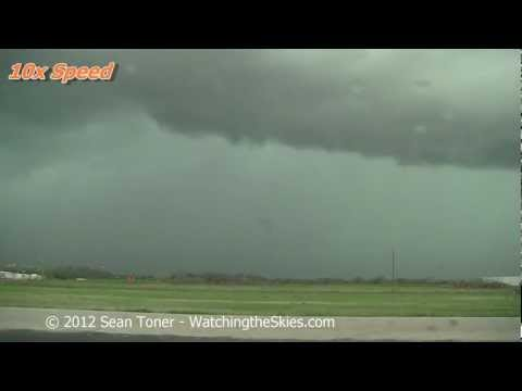 High Winds & Shelf Cloud - Gainesville, TX 03/19/2012