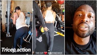 Dwyane Wade is exhausted after workout with Gabrielle Union