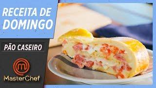 RECEITA DE DOMINGO #01   PÃO ENROLADO DE CALABRESA