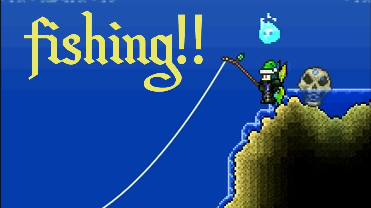 Terraria 1 2 4 how to fish guide youtube for Where can i buy worms for fishing near me