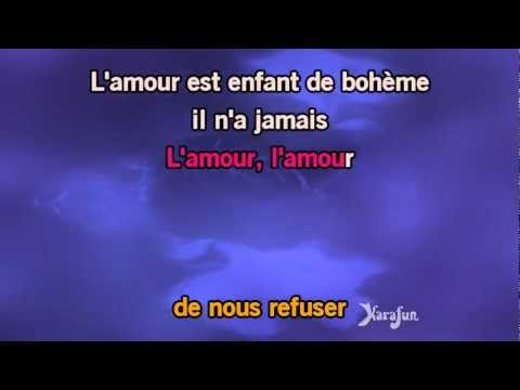 Karaoké L'amour est un oiseau rebelle (Habanera - Carmen) - Georges Bizet *