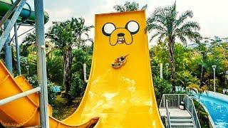 Funny JAKE JUMP Water Slide | Cartoon Network Amazone